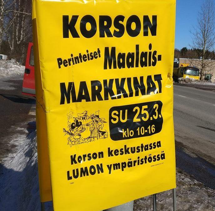 25.3.2018 Korson Maalaismarkkinat