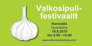 Keravan Valkosipulifestivaalit 18.8.2018 klo 9 – 18