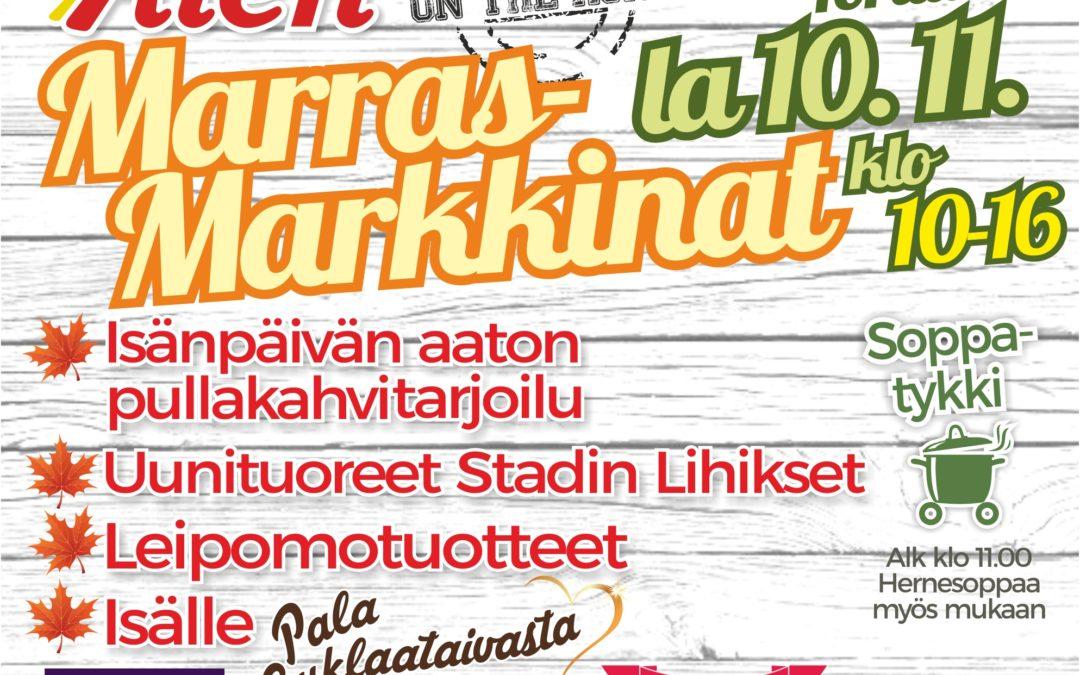 Alen MarrasMarkkinat 10.11.2018 Karkkilan torilla