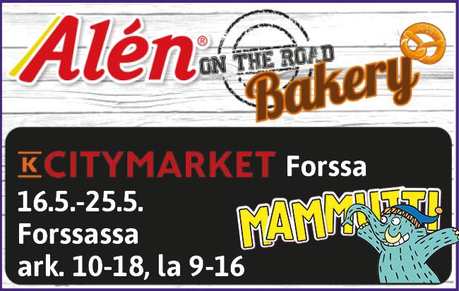 K-Citymarket Forssa 16.-25.5.2019 Mammuttimarkkinat