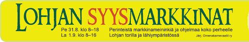 Lohjan Syysmarkkinat 31.8 – 1.9.2018